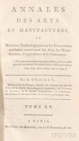 Annales des Arts et Manufactures tome XV