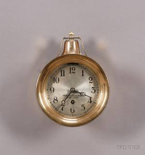 Brass Ships Bell Wall Clock by the Vermont Clock Company