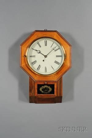 Rosewood Drop Octagon Wall Clock by Atkins Clock Company