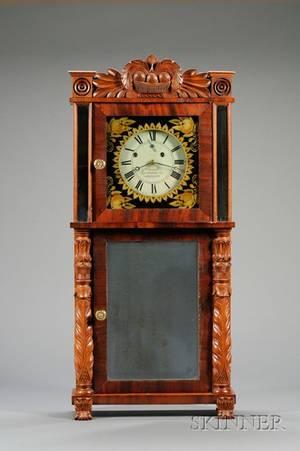 Mahogany Shelf Clock by Asa Munger  Company