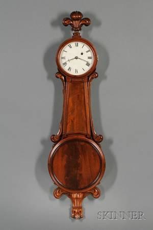 Mahogany Girandole Clock Attributed to J N Dunning