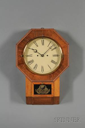 Rosewood Drop Octagon 30Day Fusee Wall Clock by Atkins Clock Company