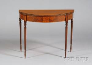 Federal Cherry Inlaid Card Table