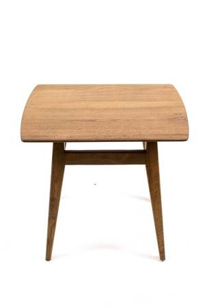 Jens Risom Modern Walnut Side Table