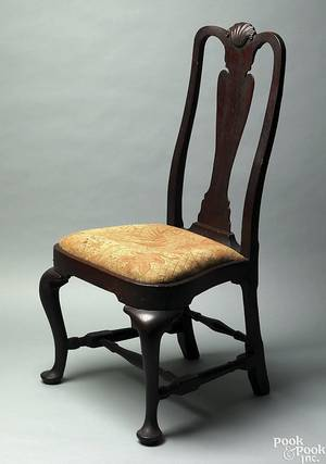 Boston Queen Anne mahogany dining chair ca 1750