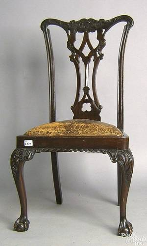 Chippendale style mahogany dining chair