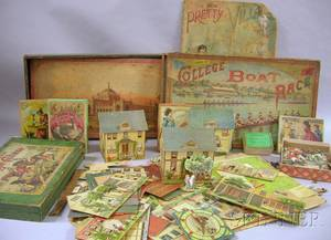Group of 19th and Early 20th Century Lithographed Games and Puzzles