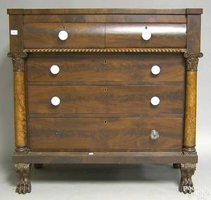 Pennsylvania Empire mahogany chest of drawers
