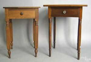New England Sheraton cherry one drawer stand