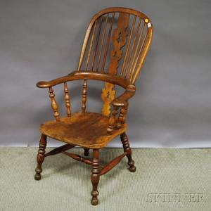 English Windsor Elm Armchair