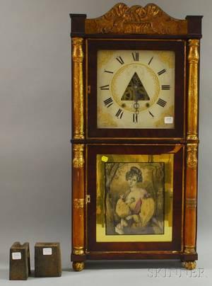 E Terry  Sons Classical Parcelgilt and Mahogany Veneer Shelf Clock