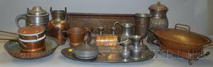 Nineteen Mostly Copper Brass and Pewter Items