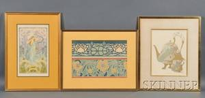 Six Art Nouveau Prints Georges De Feure French 18681943 Journal des Ventes Plate 146