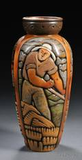 Mougin Brothers Art Deco Vase