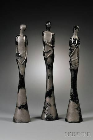 Three Figural Glass Sculptures Attributed to Ercole Barovier