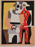 After Pablo Picasso Spanish 18811973 Pierrot and Red Harlequin Standing