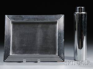 Norman Bel Geddes Cocktail Shaker and Tray