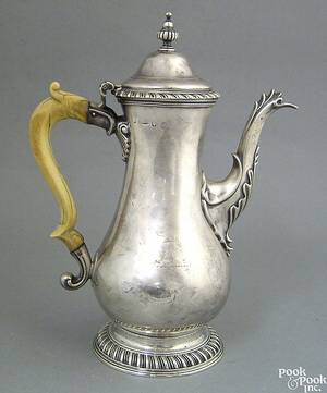 Georgian silver teapot ca 17641765