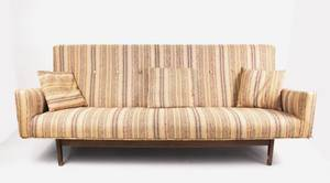 Jens Risom Striped Upholstered Sofa