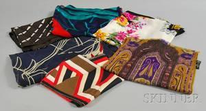Six Assorted Designer ScarvesShawls