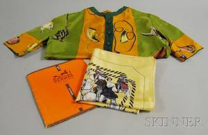 Hunting and Rodeothemed Hermes Silk Shirt and Scarf
