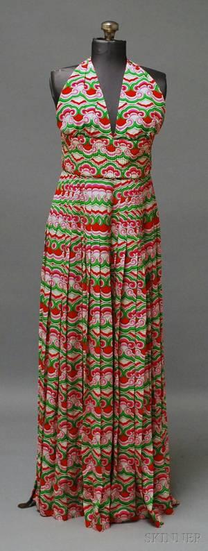 Valentino Long Silk Halter Dress