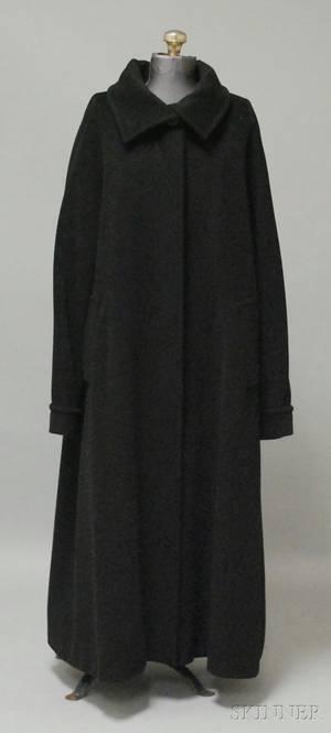 Womens MaxMara Black Wool Dress Coat