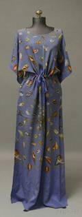 Vintage Gucci Seashellpatterned Silk Dress