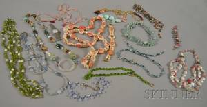 Group of Mostly Beaded Costume Jewelry