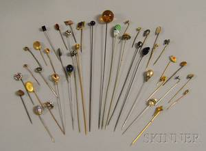 Group of Antique Hat Pins and Stickpins