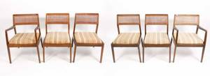 Set of 6 Jens Risom Upholstered Dining Chairs