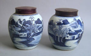 Two Chinese export Canton ginger jars 19th c