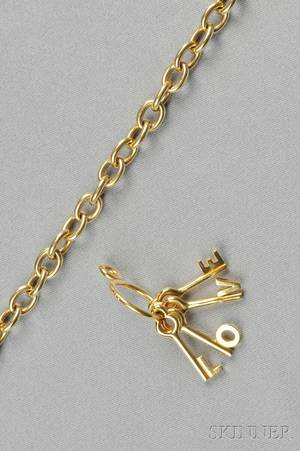 Two Gold Jewelry Items Tiffany  Co