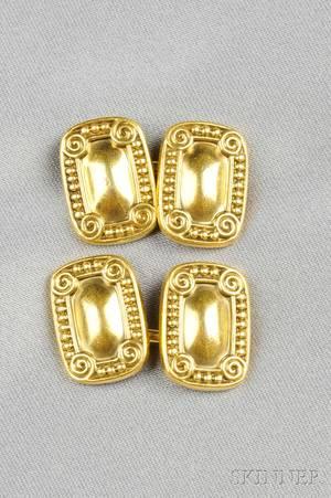 Arts  Crafts 18kt Gold Cuff Links Tiffany  Co