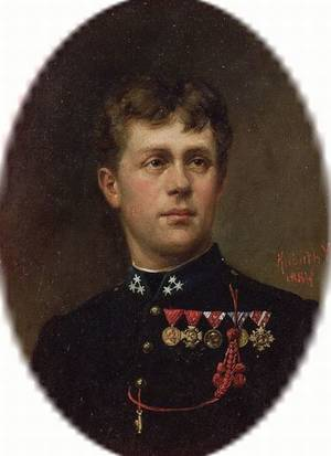 Continental School 19th Century Portrait of a Young Officer