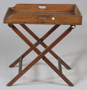 Victorian Mahogany Tray on Stand