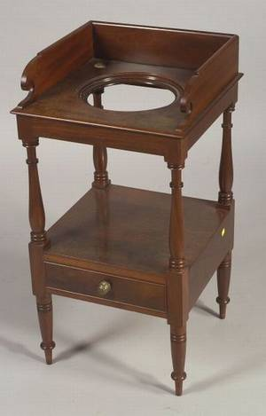 English Sheraton Mahogany Wash Stand