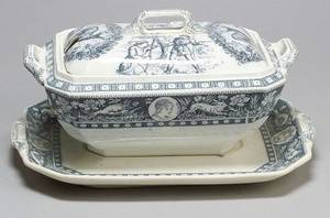Extensive Wedgwood Pearlware Ivanhoe Pattern Assembled Dinner Service