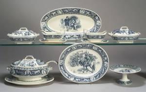 Extensive Wedgwood Ivanhoe Pattern Assembled Dinner Service for Twelve