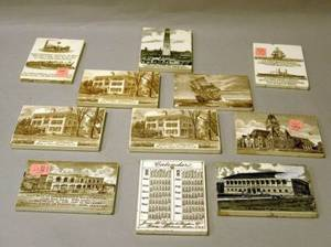 Eleven Wedgwood Calendar Tiles