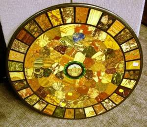 Italian Pietra Dura and Micromosaic Round Table Top