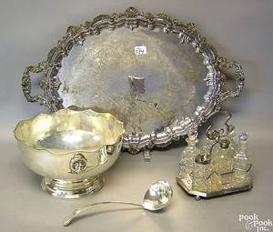 Silver plate to include tray