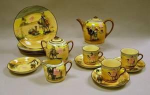 FourteenPiece Royal Doulton Desert Scenes Series Ware Partial Tea Set