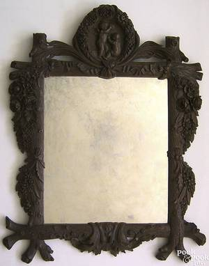 Continental carved mirror late 19th c