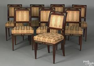 Set of 8 French mahogany dining chairs midlate 19th c