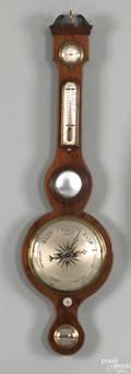 Regency mahogany banjo barometer 19th c