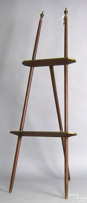 Carved and painted easel