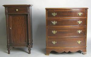 Federal style mahogany bowfront chest of drawers