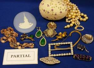 Large Group of Mid20th Century Costume Jewelry and Accessories