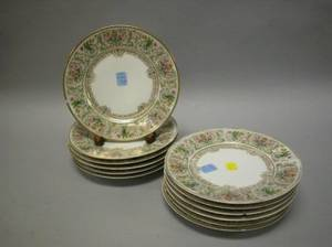 Set of Twelve Limoges Porcelain Luncheon Plates